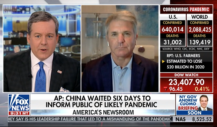 Icymi Mccaul Details Ccp Coronavirus Coverup Who Culpability On Fox News Committee On Foreign Affairs